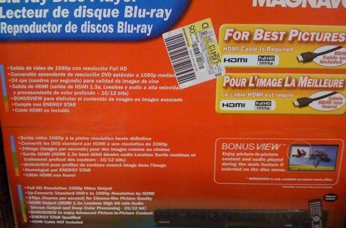 Magnavox NB530MGX Blu-ray player shows up in the wild