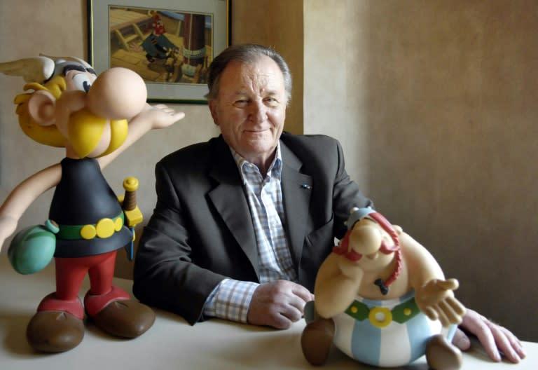 Albert Uderzo created the plucky Gaul Asterix with fellow Frenchman Rene Goscinny in 1959. (AFP Photo/STEPHANE DE SAKUTIN)
