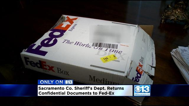 Sacramento Sheriff Gives Wrongly Mailed Medical Records Back To FedEx