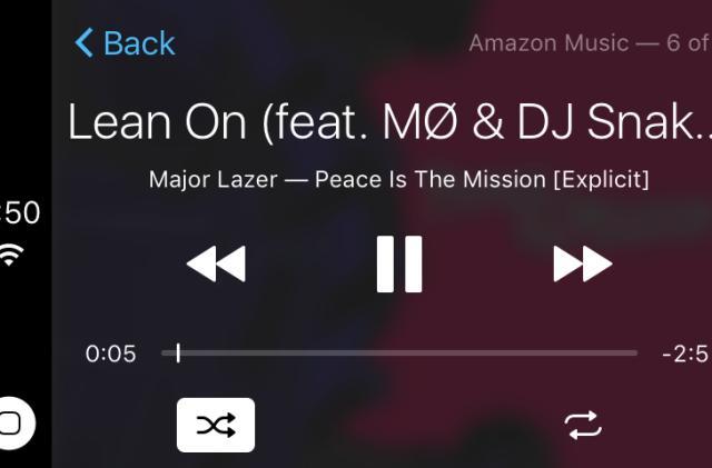 Amazon Music's iOS app infiltrates CarPlay