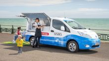 Nissan e-NV300 turned into an environmentally friendly ice cream van