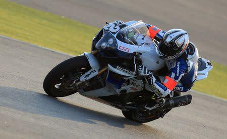 SERT Team's Sylvain Guintoli of France takes a curve during the Endurance FIM World Championship
