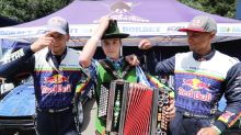 Red Bull Driftbrothers take a ride with an accordion player