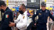 """Imagínate con qué seguridad estamos"": sorprenden a policía de Nezahualcóyotl robando en supermercado"