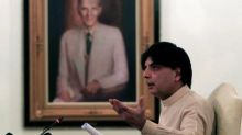 Pakistan minister says to quit in fresh blow to PM Sharif