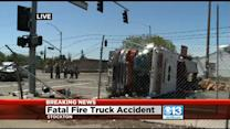 1 Person Killed After SUV Collides With Fire Truck In Stockton