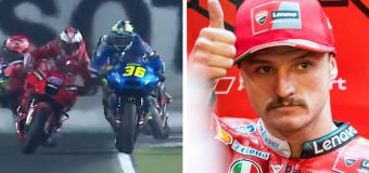 Aussie accused of nasty act in MotoGP chaos