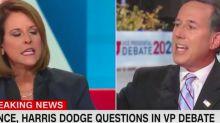 Rick Santorum cut off female co-panelist Gloria Borger while she was talking about Mike Pence interrupting Kamala Harris at the VP debate