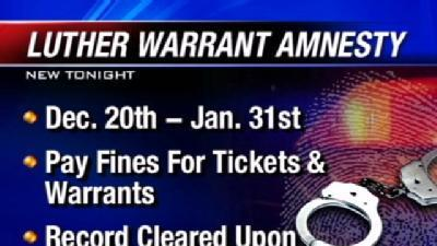 Warrant Amnesty Offered In Luther