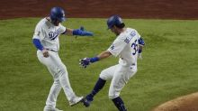 World Series: Cody Bellinger drops elbow bumps for foot taps after blasting Game 1 homer