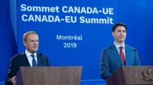 Justin Trudeau takes aim at NDP over EU-Canada trade pact as summit wraps up