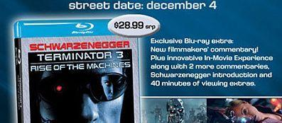 Terminator 3: I'll be back, in a couple of weeks