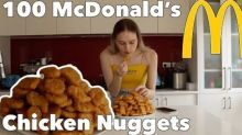 She's Lovin' It: Model Munches McDonald's Nuggets for Charity