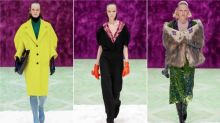 Old-fashioned glamour meets psychedelic print as Prada shines in Milan