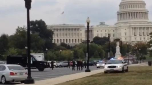 The scene outside the Capitol after shooting