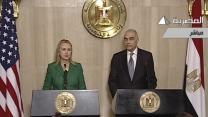 Clinton: US, Egypt broker ceasefire in Gaza