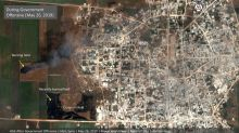 Satellite images show crops on fire in Syria rebel enclave