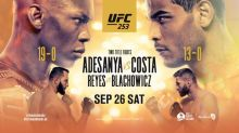 UFC 253: Adesanya vs. Costa fight card, talking points, date, start time and where to watch