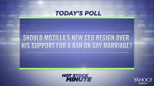 Should Mozilla's CEO resign over his support of a gay marriage ban?