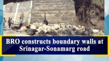 BRO constructs boundary walls at Srinagar-Sonamarg road