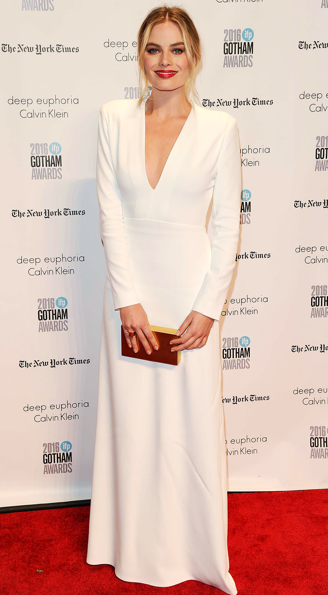 ... Wore Her Mom's Wedding Dress for Secret Nuptials to Tom Ackerley Reynolds Wrap Dress