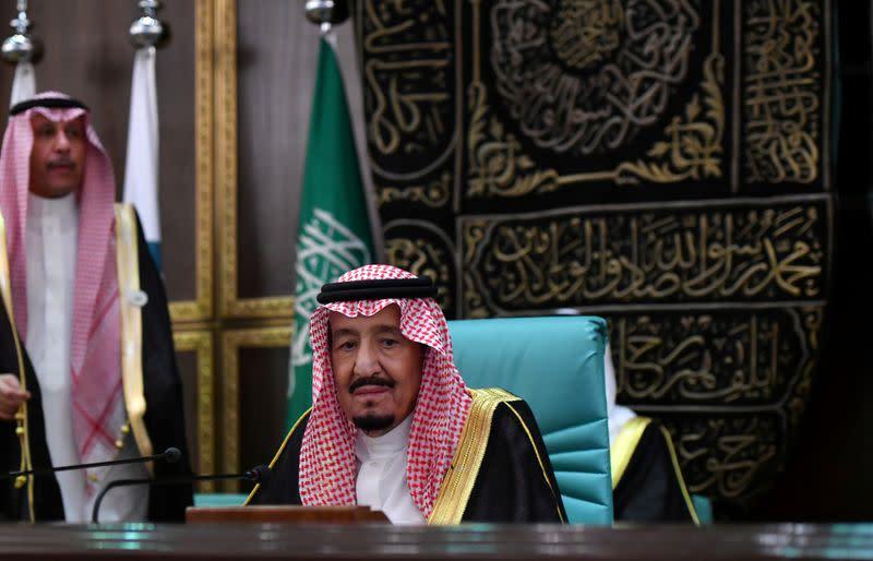 FILE PHOTO: Saudi Arabia's King Salman bin Abdulaziz attends the 14th Islamic summit of the Organisation of Islamic Cooperation (OIC) in Mecca