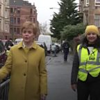 SNP leader Nicola Sturgeon visits polling station