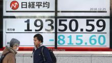 Japan's Nikkei tumbles into a bear market after Wall Street's latest slide
