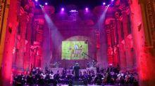 Concerto sem público nas ruínas de Baalbek, no Líbano