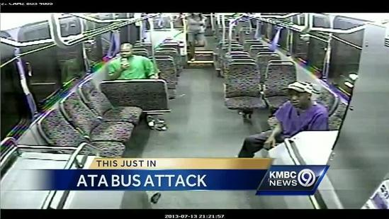 Attack on bus driver caught on tape