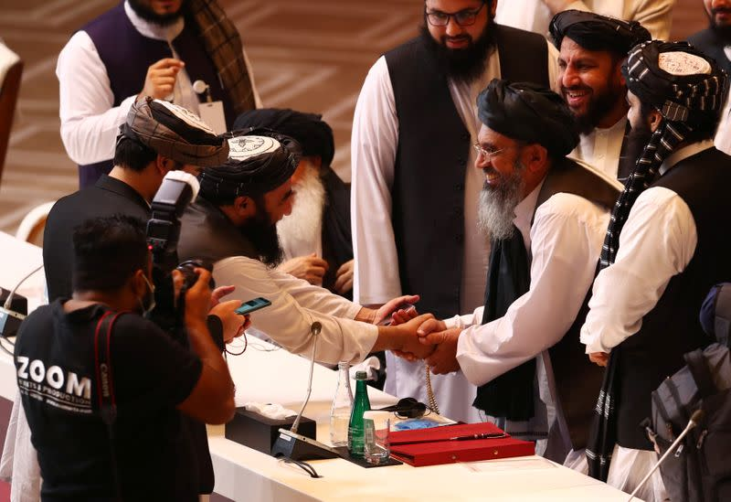 Taliban, Afghan government meet in Doha