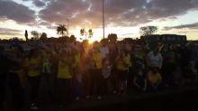 Bolsonaro saúda cloroquina em ato de apoiadores