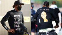 'Disgrace': Outrage over Lewis Hamilton t-shirt 'investigation'