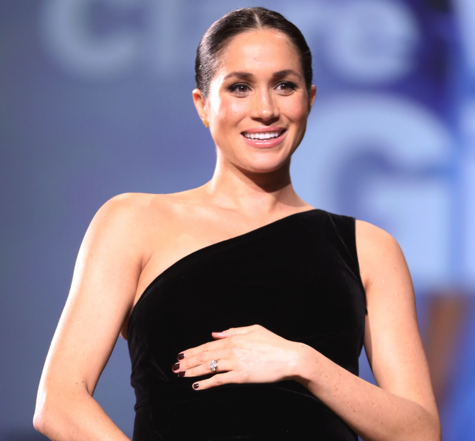 Meghan Markle Accused Of Touching Her Baby Bump Too Much