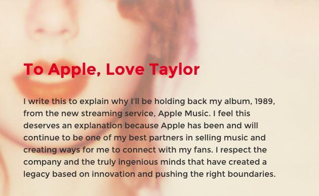 Offener Brief von Taylor Swift an Apple: Bezahlt die Künstler