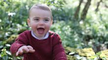 Prince Louis looks identical to George and Charlotte in first birthday snaps