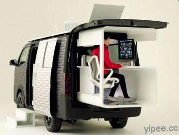 行動咖啡車不稀奇!Nissan 打造 NV350 Office Pod 行動辦公室概念車