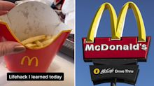 Woman reveals McDonald's hack that will keep your fries hot