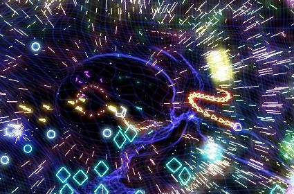 Check out some footage of Geometry Wars on the DS