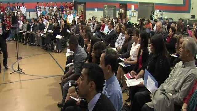 Ceremony for new citizens