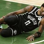 Nets' Kyrie Irving exits Game 4 with right ankle sprain