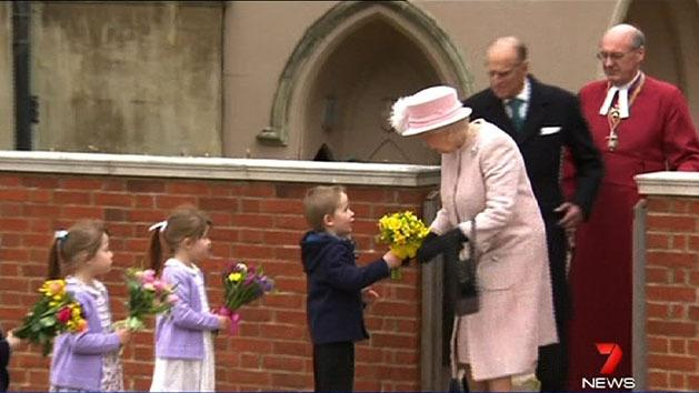 Royals attend Easter service