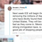 President Trump threatens mass deportation of millions in country illegally to begin next week