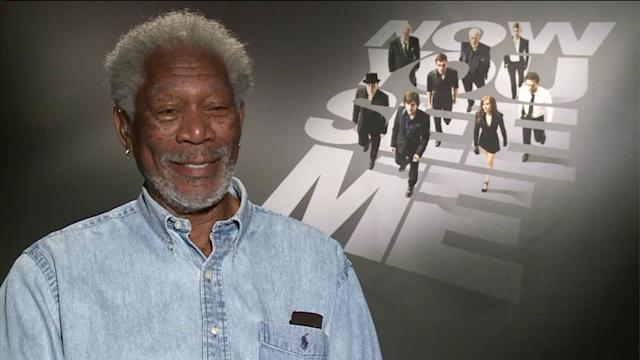 Morgan Freeman flirts with WGN producer during interview