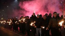 Far-right activists stage torchlit march in Bulgarian capital