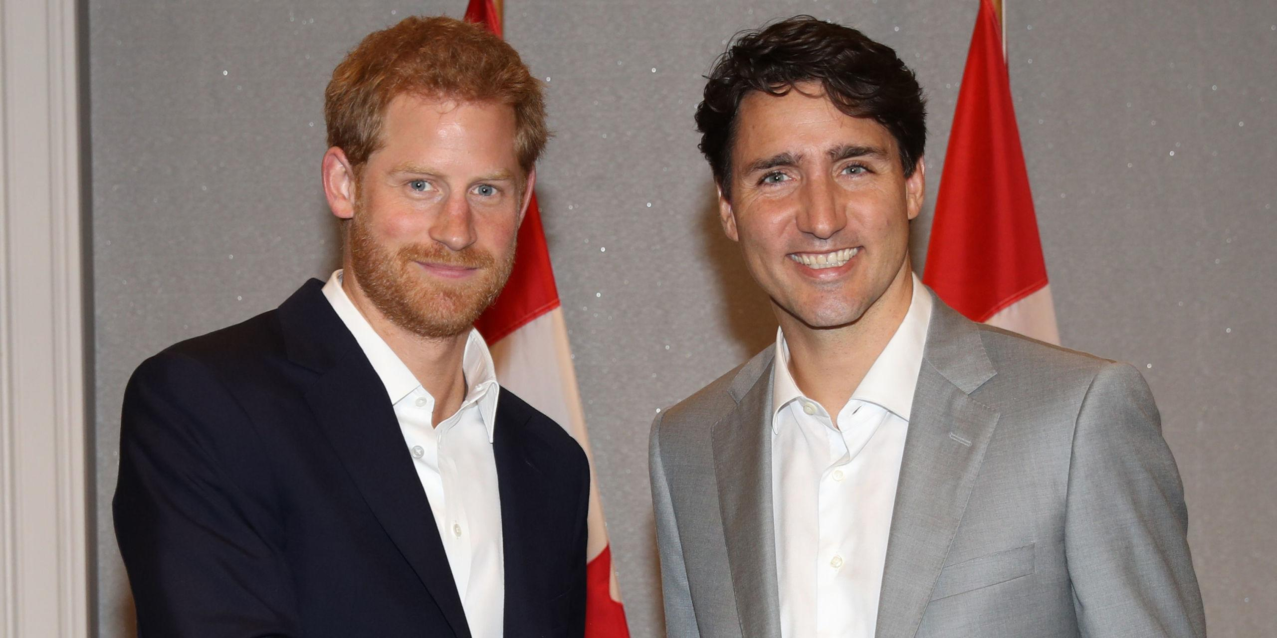 just some pictures of prince harry and justin trudeau hanging out