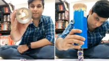 Guy performs amazing trick of dice stacking