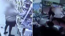 Teen gang terrorises supermarket staff in violent attack