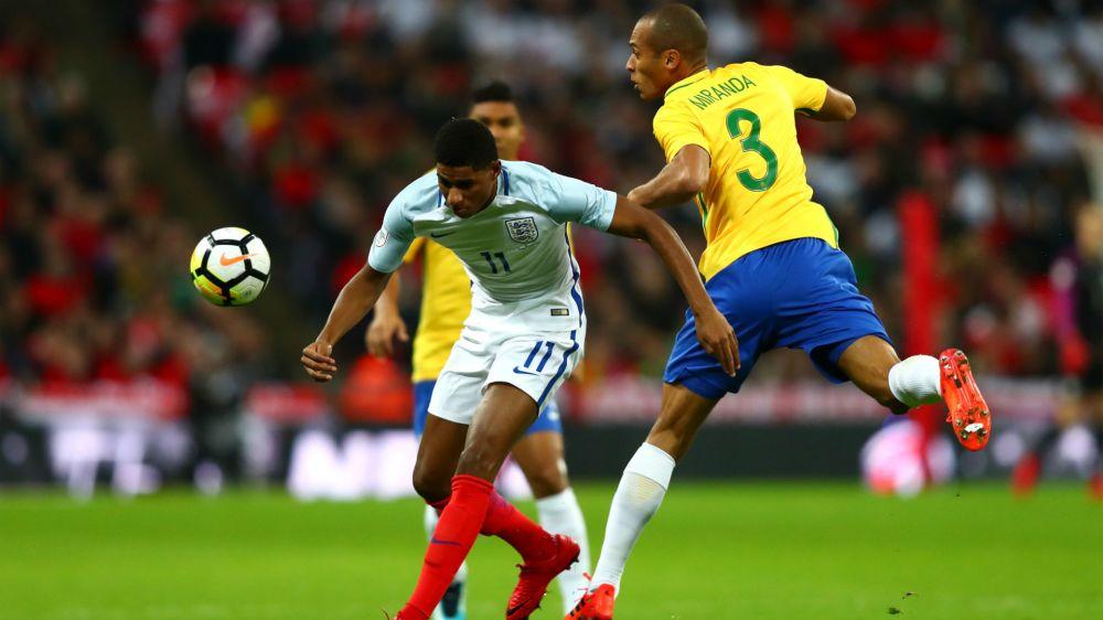 England 0 Brazil 0: Gomez impresses as hosts stifle Neymar and company