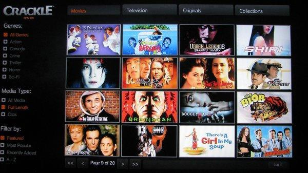 Crackle starts streaming all of its free movies to Roku, PS3, Sony TVs and Blu-ray players